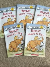 Lot Of 5 BISCUIT WANTS TO PLAY  Alyssa Satin Capucilli I Can Read guided reading