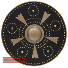 Scottish Targe Highland Warrior Medieval Shield - Handmade Hardwood Leather Grip
