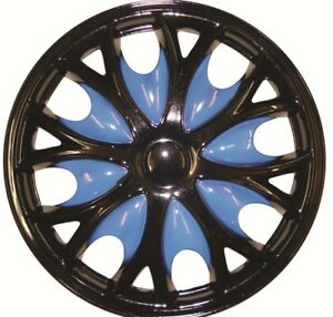 Seat Ibiza 15 Inch Black Blue Wheel Trims (1999-2002)