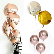 """Rose Gold 4D Sphere Helium Foil Balloons Wedding Baby Birthday Party Decor 18"""""""