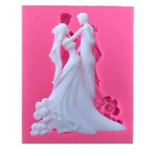 Silicone Mold Wedding Bride Groom Decoration Baking Accessories Cake Mould JD