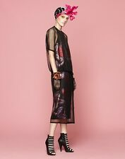 $4200 New GUCCI Art Nouveau Runway Flower Jacquard Double-Layer Dress Sz.38/4