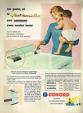 J- Publicité Advertising 1958 La Machine à laver Conord Vestamatic