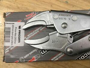 FACOM 513.10 Short Nose Lock-Grip Plier- Jaw Capacity 55mm NEW
