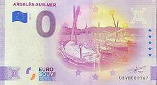 BILLET 0  EURO ARGELES SUR MER BATEAUX  FRANCE   2021  NUMERO DIVERS
