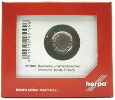 #052788 HERPA Zubehör 1:87//H0 LKW Radsatz für Zugmaschine chrom je 5 Stück eint