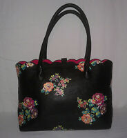 Betsey Johnson XOX Tote Floral Scalloped Shoulder Handbag