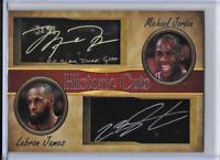 Michael Jordan Lebron James Historic Cuts Facsimile Autograph Card