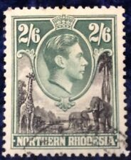 Northern Rhodesia George VI 2/6 definitive SG 41 very Fine Used C/V £7 in 2016
