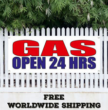 Banner Vinyl Gas Open 24 Hrs Advertising Sign Flag For Gas Station Car Change