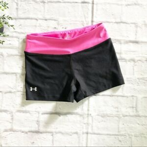 Under Armour fitted black athletic shorts XS