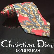 Christian Dior Monsieur Tie Camouflage Autumn 🍂 Red Green Mens Necktie