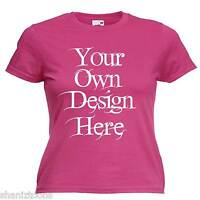 Ladies Womens Pink T Shirt Personalised Text Logo Custom Design Hen Night Party