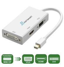 3 In 1 Mini Displayport DP Thunderbolt To HDMI DVI VGA Adapter Converter Cable