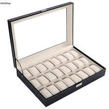 Uhrenbox Uhrenkoffer für 24 Uhren Uhrentruhe Uhrenkasten Uhrenschatulle NEU