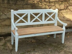 Shabby Chic Reclaimed Pine & Painted  Bench seats Three