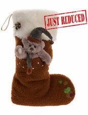 Christmas Stocking Reindeer Brown by Charlie Bears CB151607
