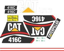 Caterpillar 416C Backhoe Decal / Adhesive / Sticker Complete Set