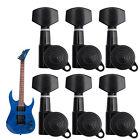 6R Guitar String Tuning Pegs Locking Tuners Keys Machine Heads Chrome Set