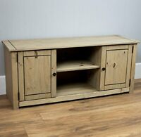 Vida Designs Panama 2 Door 1 Shelf Flat Screen TV Unit, Natural Oak