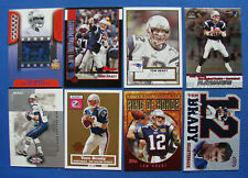*ASSORTED LOT (8) TOM BRADY FOOTBALL CARDS - TOPPS, FLEER, BOWMAN & PACIFIC*