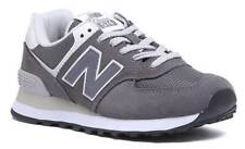 New Balance 574 Women Grey Suede Leather Trainers Size UK 3 - 8