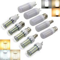 B22 E27 E14 G9 GU10 LED Light Corn Bulbs 5W-15W 5730SMD Lamp Warm Day White 220V