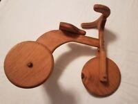 Vintage wooden tricycle