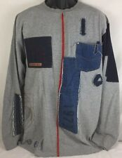 Vintage Mens 90s Pepe Jeans London Hip Hop Rap Denim Long Sleeve Shirt XL