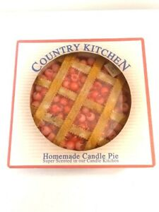 Country Kitchen Cherry Pie Shaped Decorative Candle USA Made Express Scents