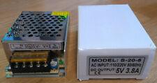 5 Volt 5V DC Transformer 3.8Amp 3.8A 230V AC input power supply LED driver