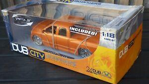 JADA DUB City 1:18 Orange 2003 DODGE RAM 1500  American Pick Up Truck Car Toy