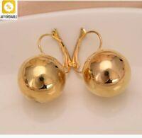 Drop Earrings For Women Big Round Ball Dangling Gold Silver Fashion Jewelry