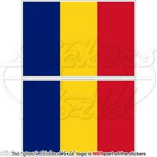 Tschad Flagge tschadischen zentralafrika Fahne 100 mm Vinyl Sticker Aufkleber x2
