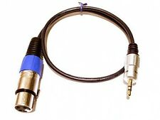 RoXdon 0.5m Camcorder Microphone cable XLR to 3.5 Jack