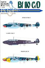 EagleCals Decals 1/48 MESSERSCHMITT Bf-110C Bf-110D Part 3