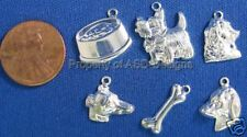 60pc S/S Plated Dog Pet Animal Lot Charms 5842