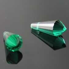 4pcs 8x20mm Swaro-element cone-shape crystal beads E peacock-green