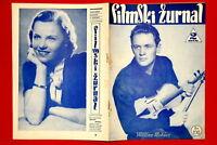 WILLIAM HOLDEN ON COVER HILDE KRAHL 1940 EXYU MAGAZINE