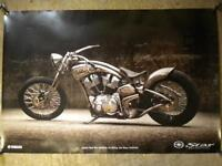 Yamaha RoadStar Custom Dealership Demo Display Sales Poster Man Cave Bike Art