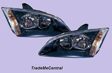 Ford Focus LS LT Black Head Lights Right Left Side 2005 2006 2007 2008 2009