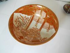 Early Signed Large Kutani Bowl AS IS