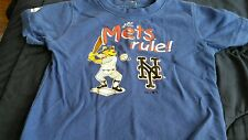 boys ny Mets baseball blue short sleeve shirt size 12 months Mets rule