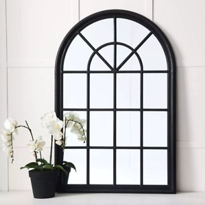 French Hampton Style Gallery Arch Wall Window Mirror Provincial Martinique