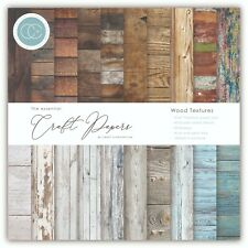 """New Craft Consortium 6"""" x 6"""" Paper Pad Craft Papers - Wood Textures"""