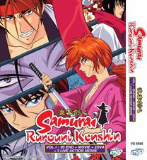 DVD Samurai Rurouni Kenshin Vol 1-95 + Movie +2 OVA +3 Live Action Movie Eng Sub