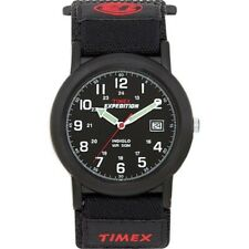 Timex Mens T40011 Expedition Camper Analog Quartz Black Watch For Men UK NEW