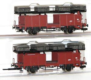 Fleischmann H0 522401 Autotransportwagen-Set der DB 2-teilig - NEU + OVP