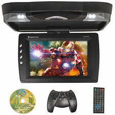 "Rockville RVD13HD-BK Black 13"" Flip Down Car Monitor w DVD/HDMI/USB/SD/Games"