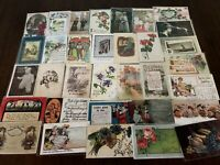 ~Lot of 40 Antique 1900's ~Mixed Topics Greetings Postcards~All with stamps-b-34
